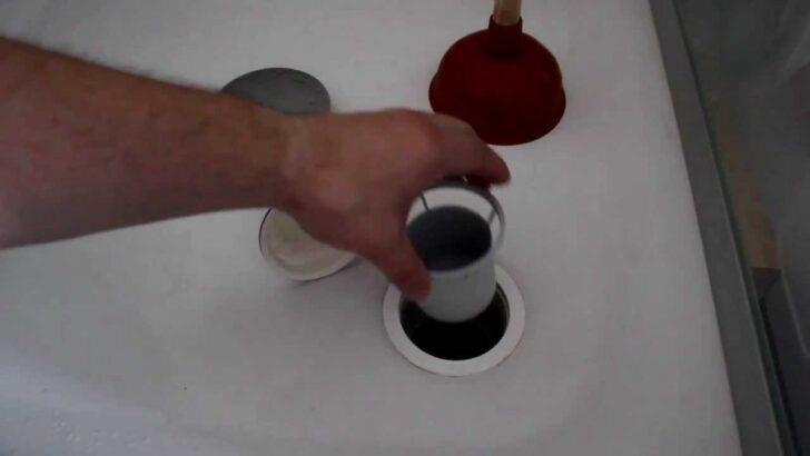 Medium Size of Abfluss Dusche Abflussreinigung Teil 02 05 Duschabfluss Wieder Zusammen Bauen Schulte Duschen Moderne Ebenerdige Unterputz Badewanne Mit Tür Und Bluetooth Dusche Abfluss Dusche