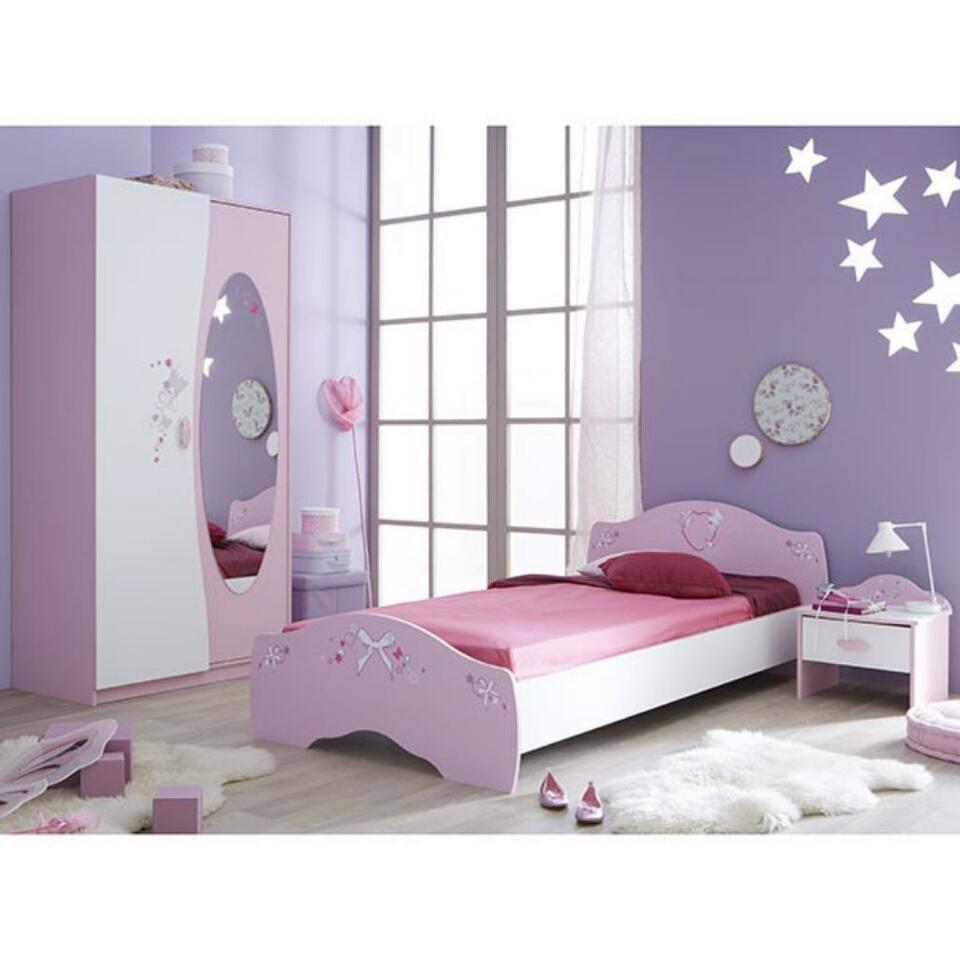 Full Size of Kinderbett Mädchen Jugendbett Mdchen Ava 90200 Cm Rosa Wei In Bett Betten Wohnzimmer Kinderbett Mädchen