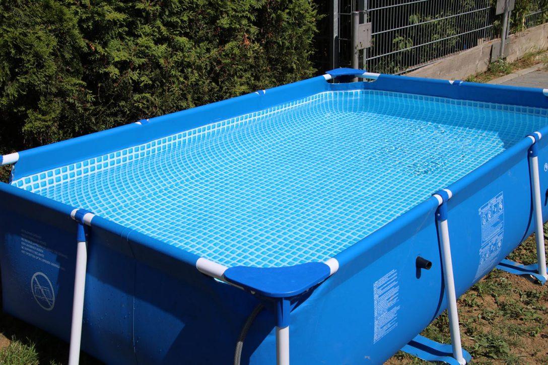 Large Size of Gartenpool Rechteckig Holz Test Garten Pool Mit Sandfilteranlage 3m Obi Kaufen Intex Bestway Pumpe Wohnzimmer Gartenpool Rechteckig