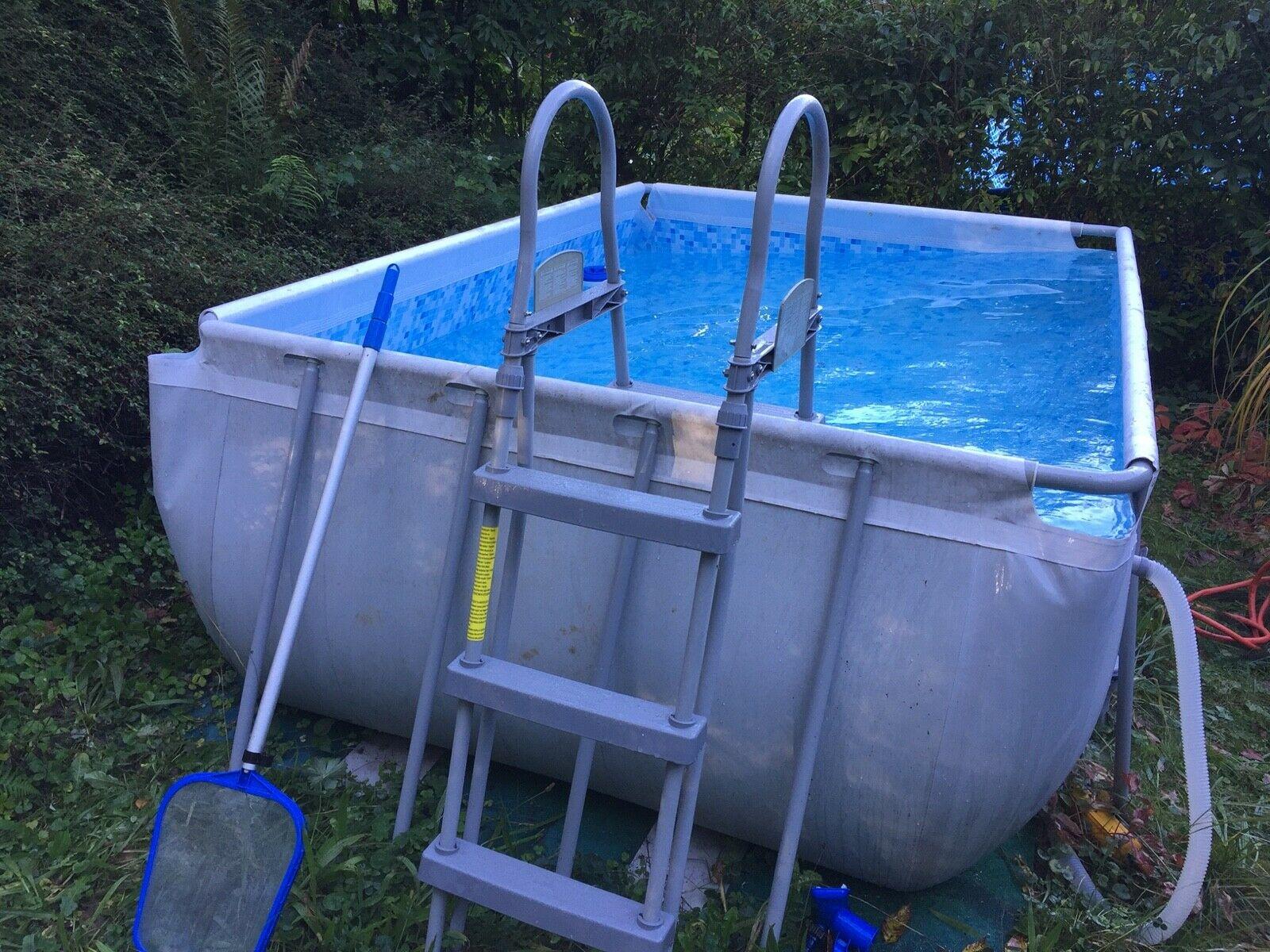 Full Size of Gartenpool Rechteckig Bestway 56409 Frame Pool Power Steel Set Wohnzimmer Gartenpool Rechteckig