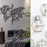 Wanddeko Modern 21 Geometrische Ideen Home Sweet Modernes Bett Moderne Bilder Fürs Wohnzimmer Tapete Küche Deckenleuchte Schlafzimmer Duschen Weiss Holz Wohnzimmer Wanddeko Modern