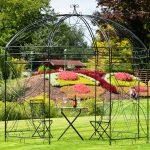 Takasho Pavillon Orlando Metall Regal Weiß Bett Regale Wohnzimmer Gartenpavillon Metall