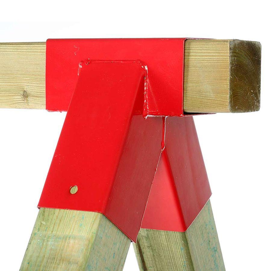 Full Size of Spielturm Selbst Bauen Anleitung Selber Holz Bauanleitung Mit Rutsche Bauplan Schaukel Kinderspielturm 1 St Schaukelverbinder Rot Vierkantholz 9x9 Cm Garten Wohnzimmer Spielturm Selber Bauen