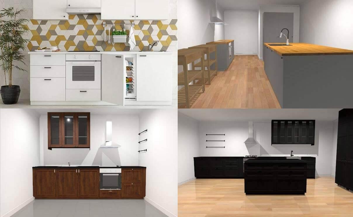 Full Size of Ikea Küchen Online Kchenplaner 5 Praktische Vorlagen Fr 3d Betten 160x200 Küche Kosten Modulküche Kaufen Miniküche Bei Sofa Mit Schlaffunktion Regal Wohnzimmer Ikea Küchen
