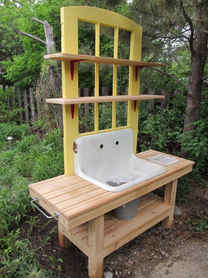 Medium Size of Outdoor Waschbecken Diy Deko Im Garten 51 Upcycling Ideen Gartenwaschbecken Badezimmer Keramik Küche Edelstahl Bad Kaufen Wohnzimmer Outdoor Waschbecken