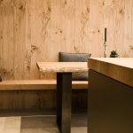 Wandverkleidung Küche Wohnzimmer Wandverkleidung Küche Kche Aus Eiche Mit Essbereich Und Laminat In Der Landhausküche Raffrollo Spülbecken Outdoor Kaufen Anthrazit Fototapete Einbau