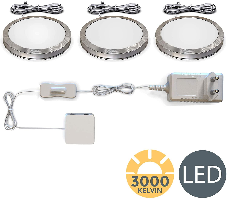Full Size of Bk Licht Led Unterbauleuchten 3er Set Schrankleuchten Wohnzimmer Küchenlampen