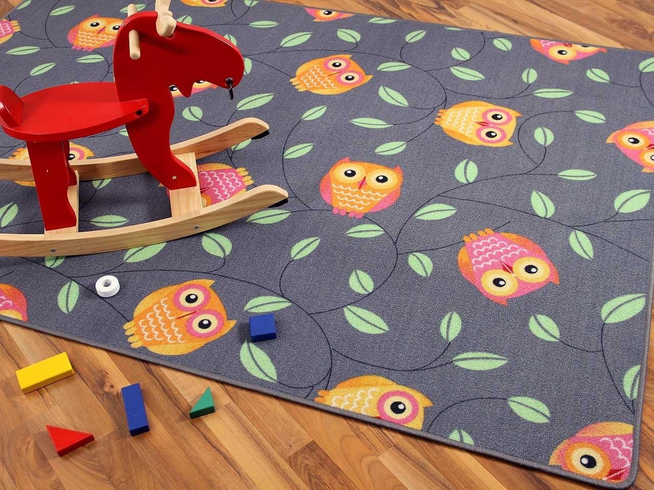Full Size of Spielteppich Eule Grau In 24 Gren Teppiche Und Regal Kinderzimmer Regale Sofa Weiß Kinderzimmer Teppichboden Kinderzimmer