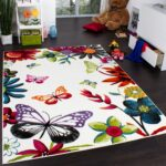 Kinderzimmer Teppiche Kinderzimmer Kinderzimmer Teppiche Kinderteppich Schmetterling Mehrfarbig Teppichcenter24 Regal Sofa Regale Wohnzimmer Weiß