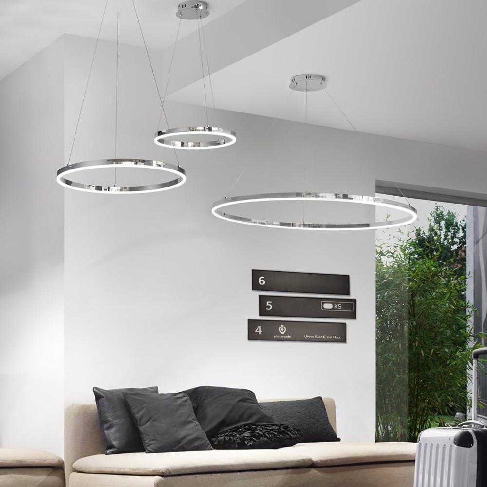 Full Size of Sluce Pro Led Hngelampe Ring Xl Dimmbar 100cm Chrom 44426 Wohnzimmer Komplett Vorhang Deckenleuchte Großes Bild Pendelleuchte Teppich Hängeschrank Wohnzimmer Wohnzimmer Hängelampe