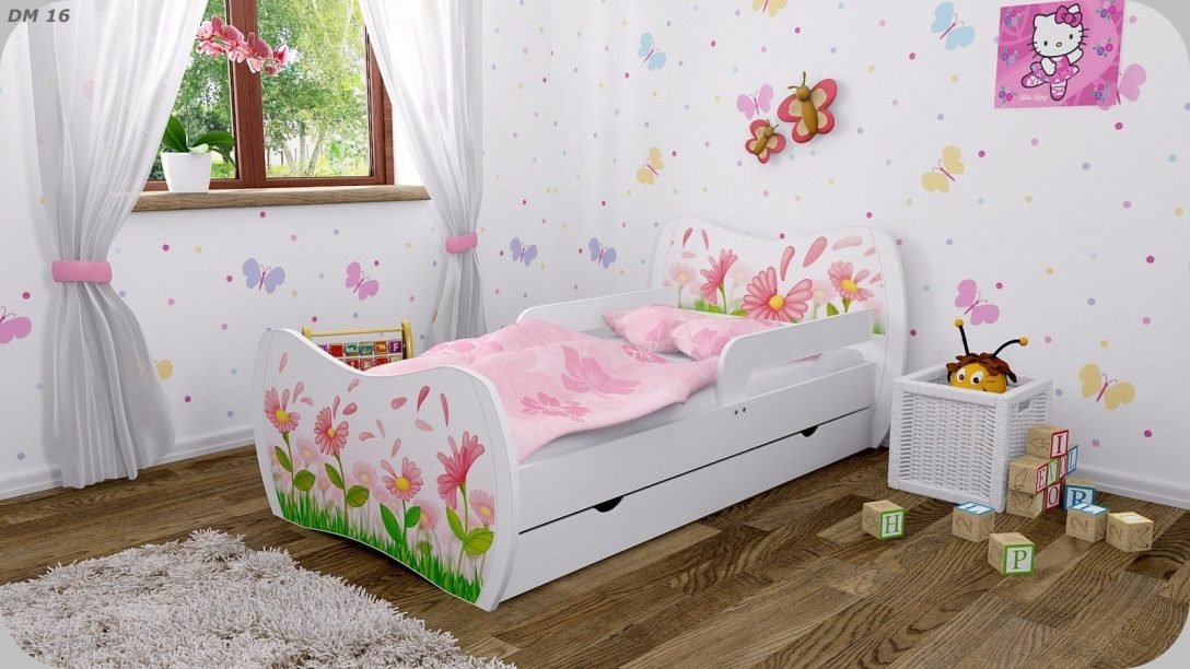 Large Size of Kinderbett Mädchen Dm Weiss Mit Matratze Bettkasten Und Lattenrost Bett Betten Wohnzimmer Kinderbett Mädchen