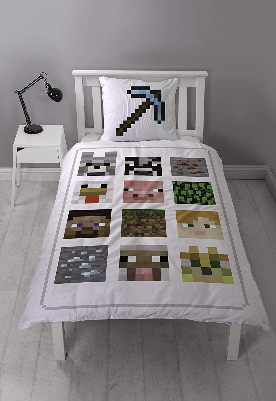 Full Size of Bettwäsche Teenager Minecraft Wende Bettwsche Set Wei Tnt Mit 2 Tollen Motiven Auf Betten Für Sprüche Wohnzimmer Bettwäsche Teenager