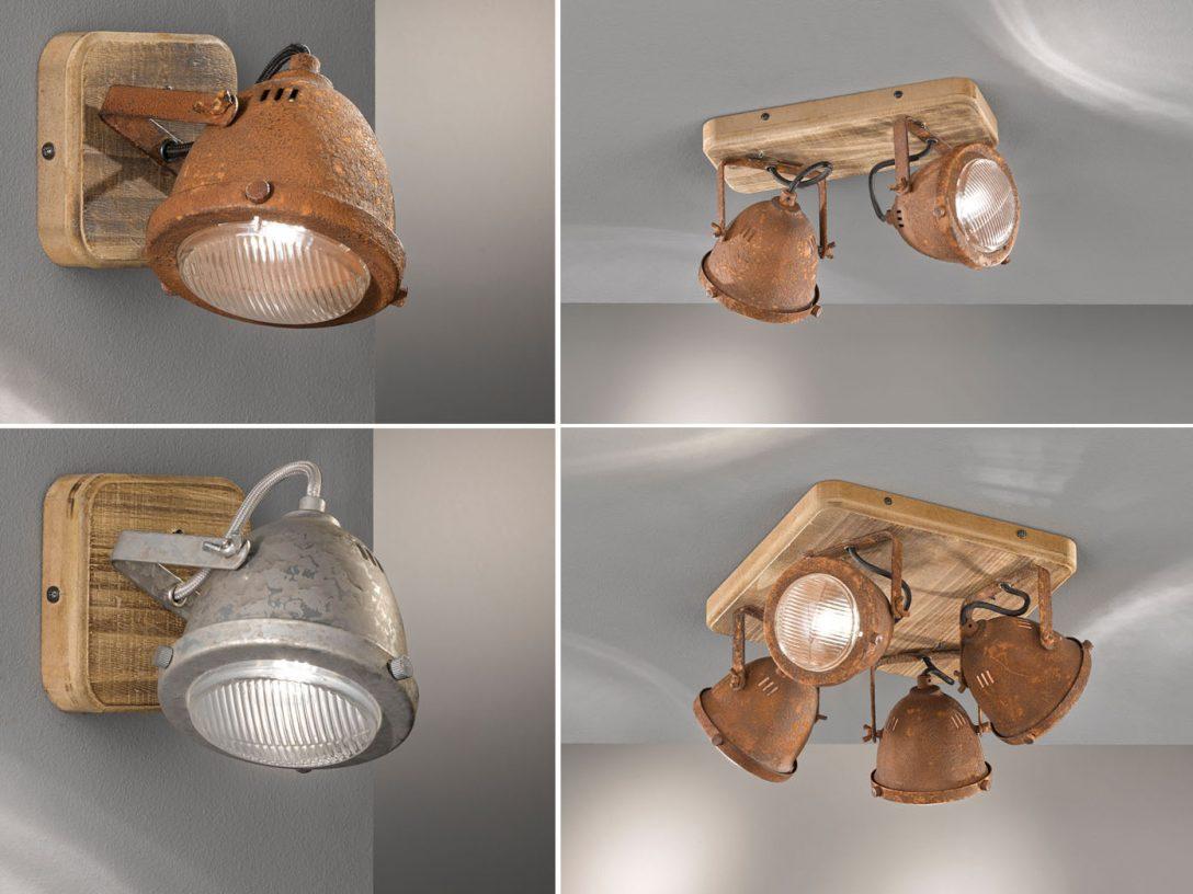 Large Size of Küchenlampen Industriedesign Spots Aus Holz Mit Metall Lampenschirm Wohnzimmer Küchenlampen