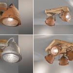 Küchenlampen Industriedesign Spots Aus Holz Mit Metall Lampenschirm Wohnzimmer Küchenlampen