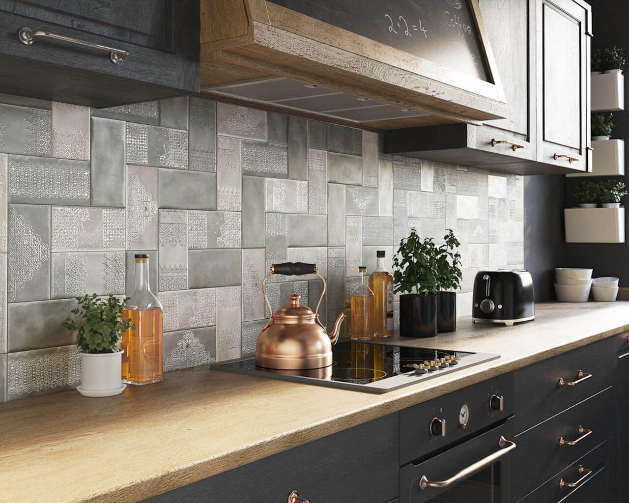 Full Size of Küchenwand Feine Kermaikspitzen An Der Kchenwand Ceramika Paradyz Wohnzimmer Küchenwand