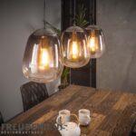 Hngelampe Shaded 3er Industrial Getntes Glas Beleuchtung Wohnzimmer Hängelampen