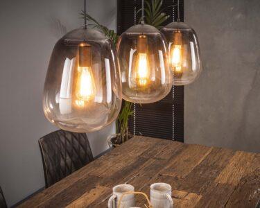 Hängelampen Wohnzimmer Hngelampe Shaded 3er Industrial Getntes Glas Beleuchtung