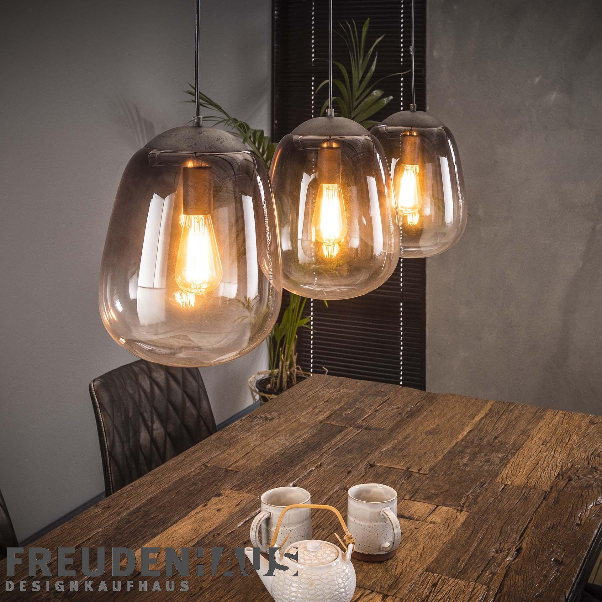 Full Size of Hngelampe Shaded 3er Industrial Getntes Glas Beleuchtung Wohnzimmer Hängelampen