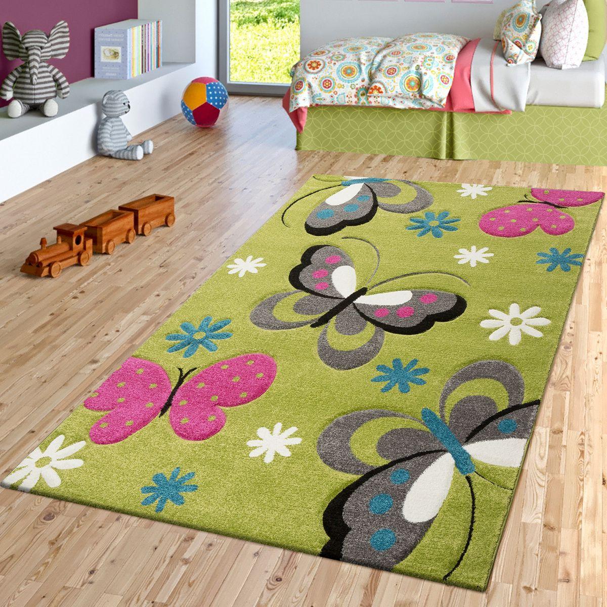 Full Size of Schmetterling Teppich Grn Grau Fuchsia Creme Kinderzimmer Regal Weiß Regale Wohnzimmer Teppiche Sofa Kinderzimmer Kinderzimmer Teppiche