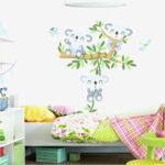 Wandbild Kinderzimmer Kinderzimmer Wandbild Kinderzimmer Baum Elefant Traumhaus Wohnzimmer Wandbilder Regal Weiß Regale Sofa Schlafzimmer