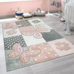 Teppiche Kinderzimmer Kinderzimmer Teppich Kinderzimmer Bunt Rosa Schmetterlinge Real Regal Sofa Weiß Wohnzimmer Teppiche Regale