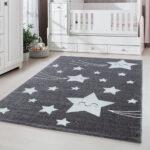 Sternenhimmel Kinderzimmer Kinderzimmer Sternenhimmel Kinderzimmer Kinderteppich Babyzimmer Sterne Grau Regal Weiß Sofa Regale