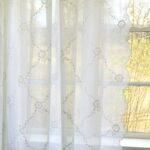 Landhaus Gardinen Wei Schal Chiara Bestickt 200x300 Cm Bandaufhngung Bett Küche Sofa Wohnzimmer Für Die Scheibengardinen Landhausstil Fenster Betten Wohnzimmer Landhaus Gardinen
