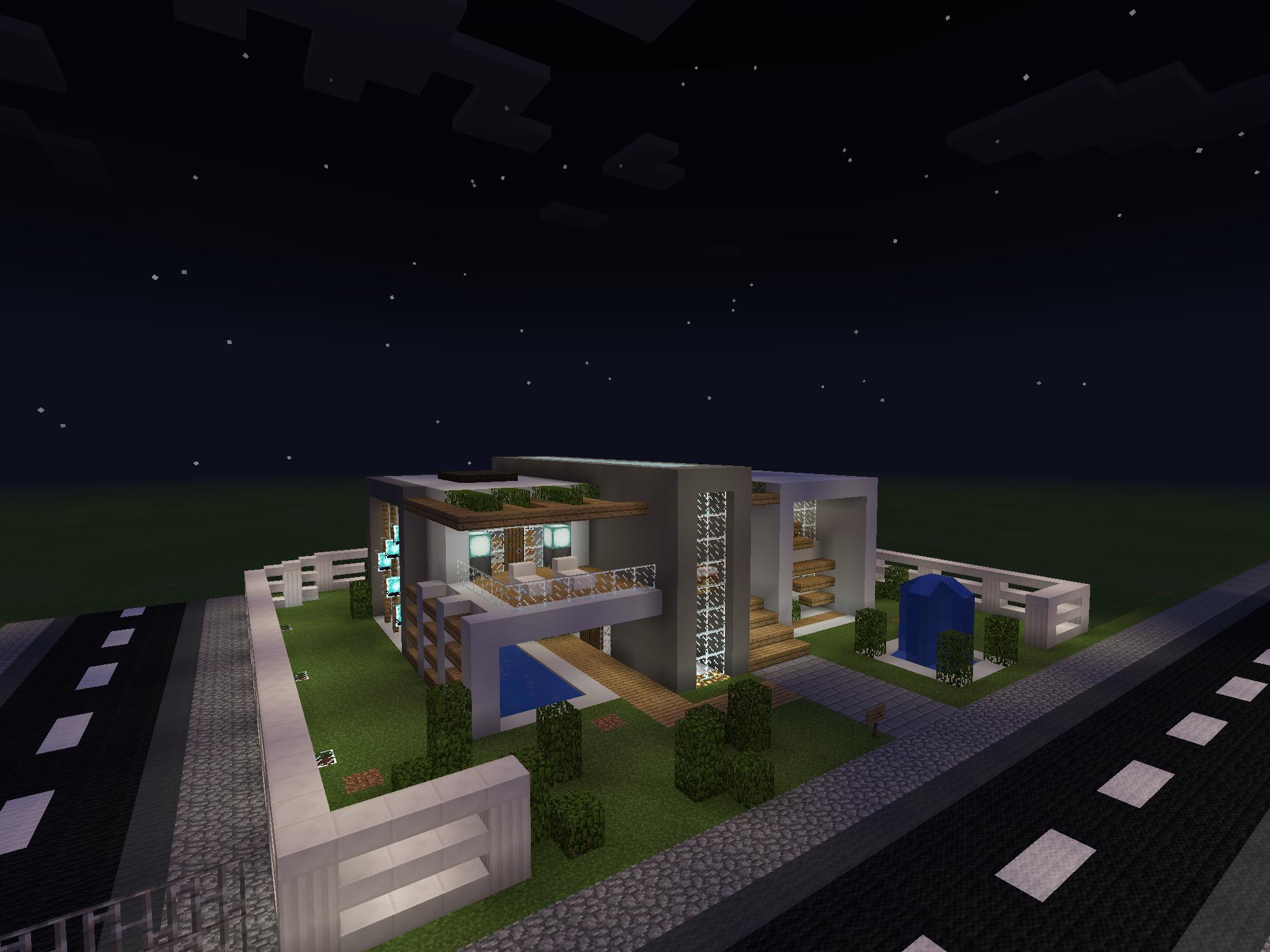 Full Size of Minecraft Küche Moderne Auergewhnliche Villa Mit Pool Inklusive Einrichtung Landhausküche Einrichten Landküche Tapete Modern Einbauküche Elektrogeräten Wohnzimmer Minecraft Küche
