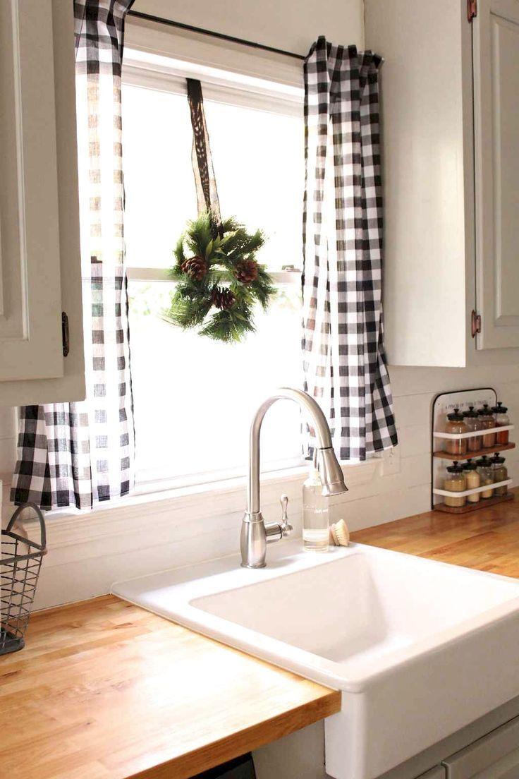 Full Size of Küchenvorhänge 66 Lieblings Bauernhaus Kchenvorhnge Dekor Ideen Kitchen Idea Wohnzimmer Küchenvorhänge