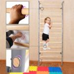 Sprossenwand Kinderzimmer Kinderzimmer Sprossenwand Kinderzimmer Turnwand Kletterwand Klettergerst Sofa Regale Regal Weiß