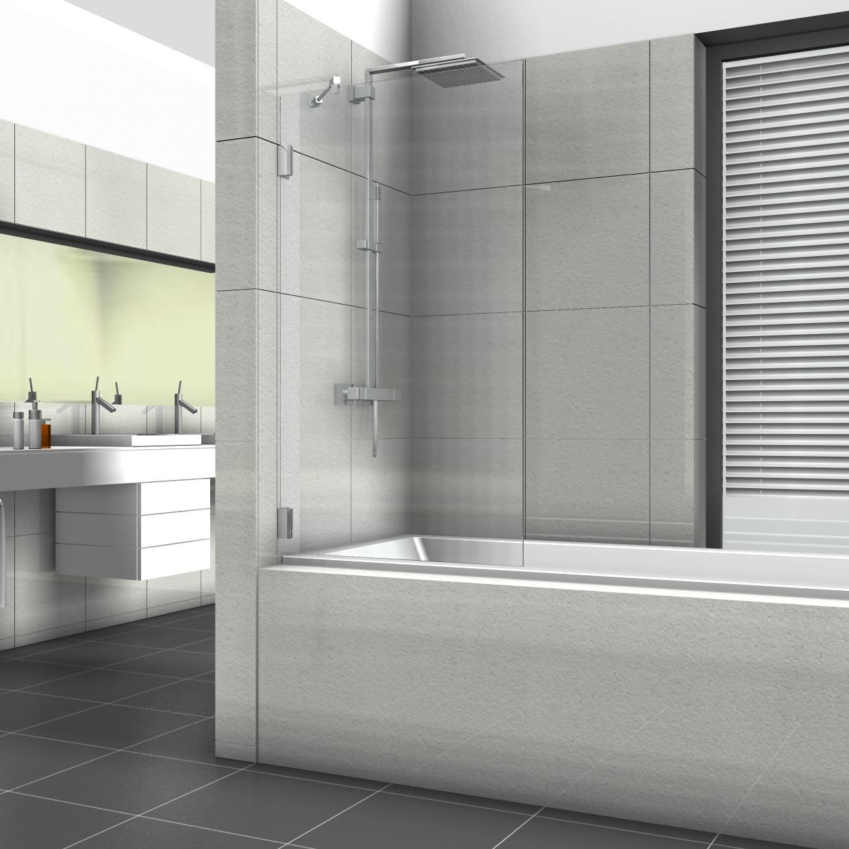 Full Size of Glastrennwand Dusche Badewannenaufsatz Mit Feststehender Glaswand Grohe Thermostat Hsk Duschen Breuer Bodengleiche Nachträglich Einbauen Mischbatterie Dusche Glastrennwand Dusche