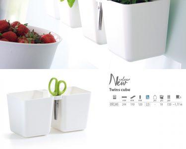 Kräutertopf Wohnzimmer Kräutertopf Krutertopf Twins Cube Prosperplast Küche