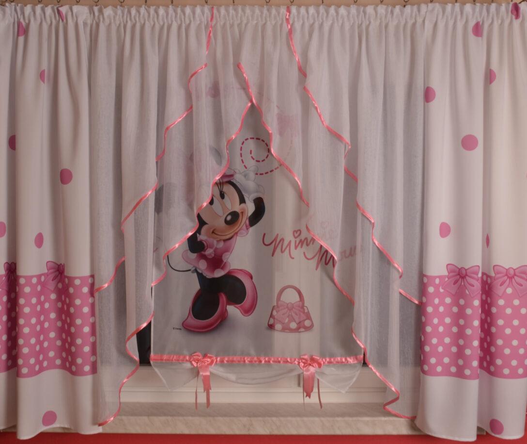 Large Size of Kinderzimmer Vorhang Disney Minnie Mouse Gardine Kindergardine Baby Regal Weiß Bad Sofa Regale Küche Wohnzimmer Kinderzimmer Kinderzimmer Vorhang