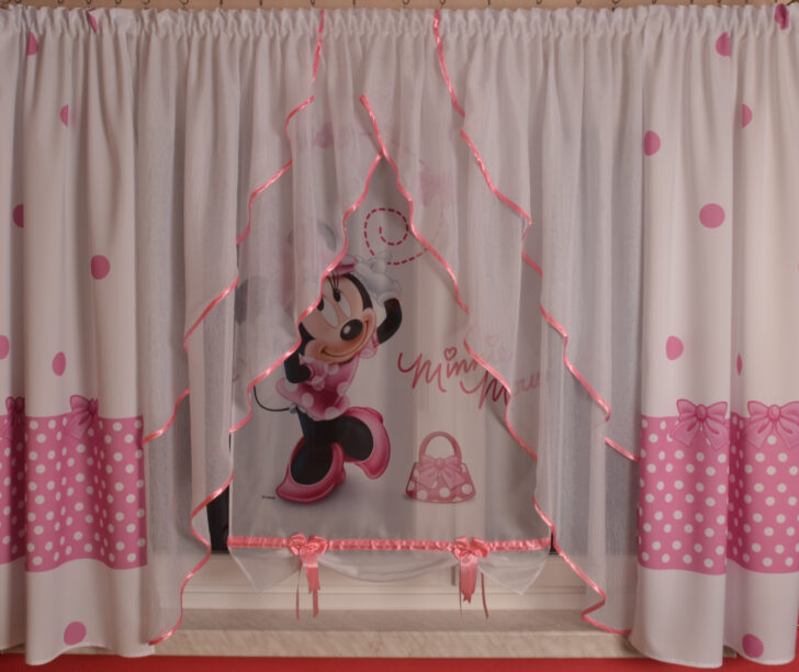 Medium Size of Kinderzimmer Vorhang Disney Minnie Mouse Gardine Kindergardine Baby Regal Weiß Bad Sofa Regale Küche Wohnzimmer Kinderzimmer Kinderzimmer Vorhang