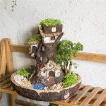 Skulptur Garten Fee Miniatur Stumpf Harz Blumentopf Cartoon Lounge Sessel Spielhaus Hängesessel Loungemöbel Holz Mini Pool Und Landschaftsbau Hamburg Wohnzimmer Skulptur Garten