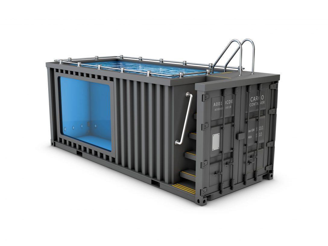 Large Size of Upcycling Containerpool Vom Ausgedienten Container Zum Pool Im Garten Bauen Bett Kaufen Hamburg Breaking Bad Mini Betten Regale Gebrauchte Küche Sofa Günstig Wohnzimmer Pool Kaufen