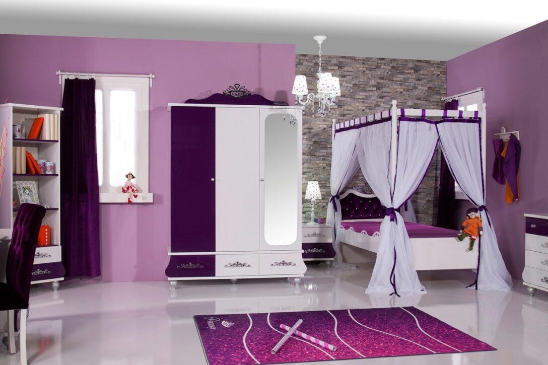 Kinderzimmer Prinzessin Design Anastasia Lila Zimmer Regale Sofa Regal Bett Weiß Prinzessinen