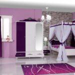 Kinderzimmer Prinzessin Kinderzimmer Kinderzimmer Prinzessin Design Anastasia Lila Zimmer Regale Sofa Regal Bett Weiß Prinzessinen