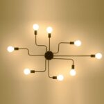 Wohnzimmer Deckenleuchte Wohnzimmer Wohnzimmer Led Dimmbar Amazon Ikea Kreative Eisen Retro Schlafzimmer Spinne Xxl Tischlampe Stehlampen Lampe Vitrine Weiß Teppich Hängeschrank Komplett Liege