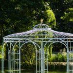 Gartenpavillon Metall Wohnzimmer Gartenpavillon Metall Verzinkt 350cm Eleganz Regal Regale Bett Weiß