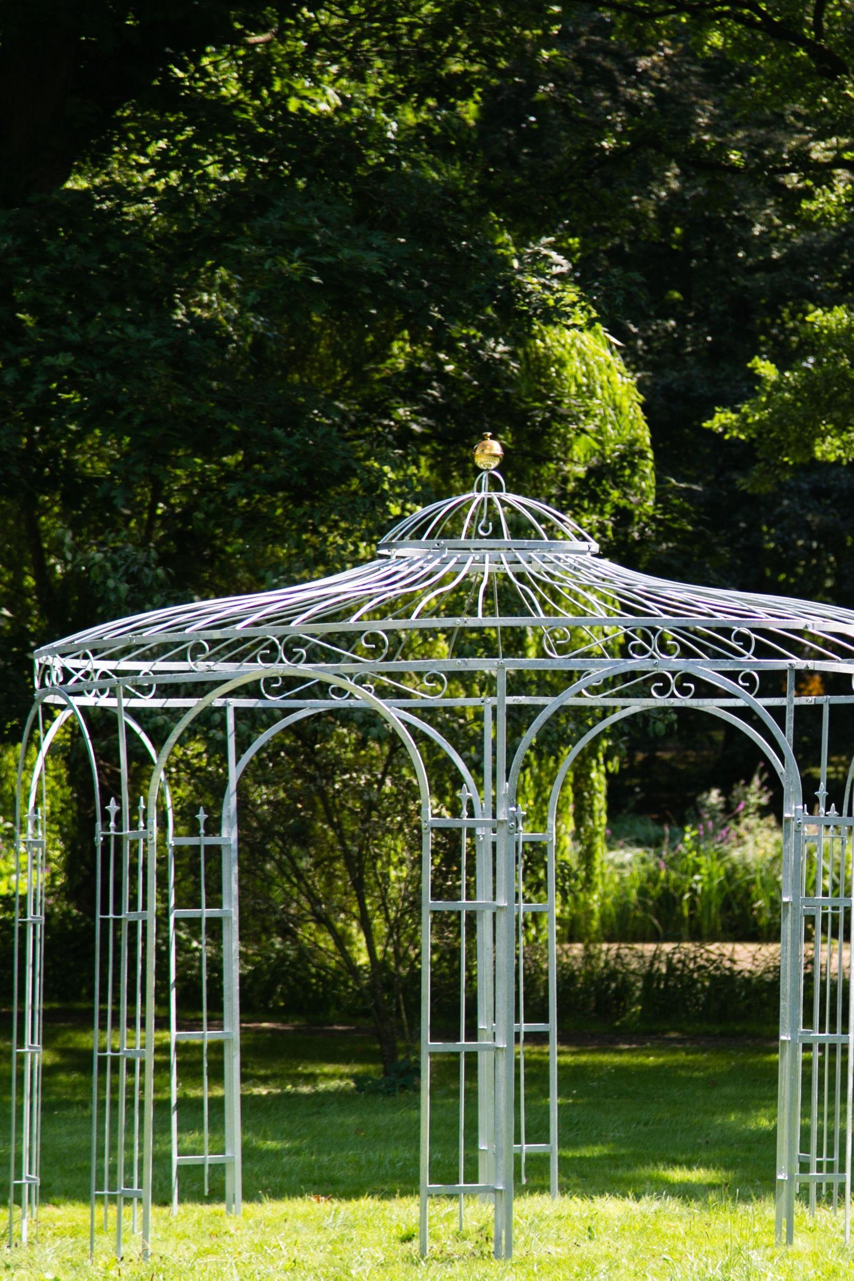 Full Size of Gartenpavillon Metall Verzinkt 350cm Eleganz Regal Regale Bett Weiß Wohnzimmer Gartenpavillon Metall