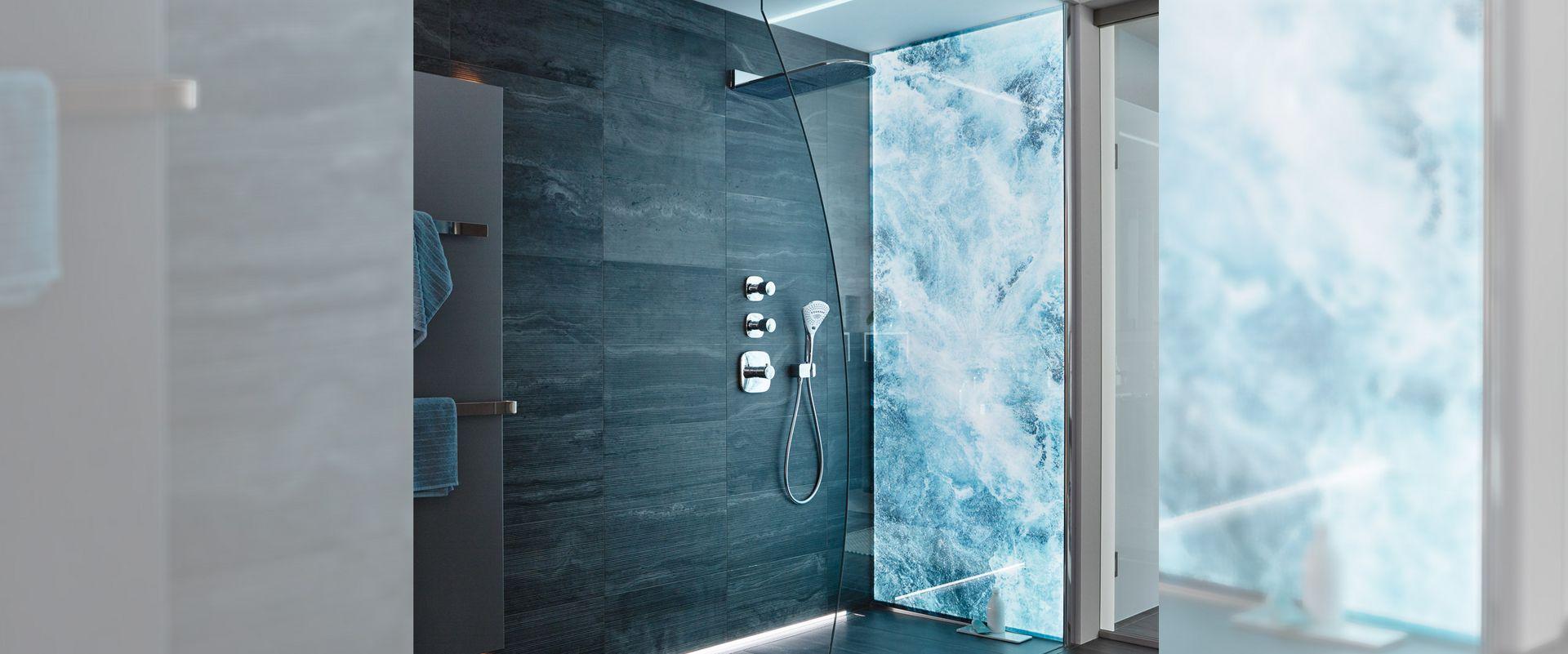 Full Size of Wandverglasung Mit Beleuchtung System Premium Led Von Sprinz Hsk Duschen Hüppe Schulte Werksverkauf Bodengleiche Breuer Moderne Kaufen Begehbare Dusche Sprinz Duschen