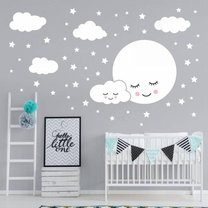 Medium Size of Kinderzimmer Wanddeko 162 Wandtattoo Vollmond Mit Wolken Und Sternen Wei Regal Weiß Küche Regale Sofa Kinderzimmer Kinderzimmer Wanddeko