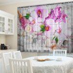 Küchenvorhänge 2er Set 145160 Cm Gardinen Transparent Foto Vorhnge 3d Wohnzimmer Küchenvorhänge