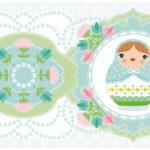 Bordüren Kinderzimmer Bordre Matroschka Mit Blmchen In Pastell Farben Regal Weiß Regale Sofa Kinderzimmer Bordüren Kinderzimmer