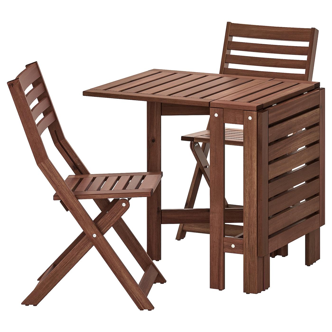 Full Size of Ikea Gartentisch Pplar Tisch 2 Klappsthle Auen Braun Las Deutschland Küche Kosten Modulküche Sofa Mit Schlaffunktion Miniküche Betten Bei 160x200 Kaufen Wohnzimmer Ikea Gartentisch