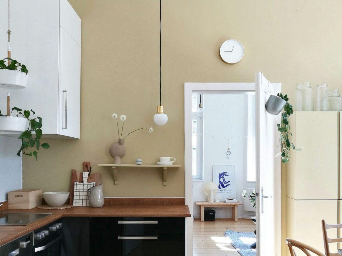 Large Size of Farbfreude Ton In Look Noras Kche I Kolorat Küche Mit Geräten Modulküche Holz Deckenleuchte Einbauküche Gebraucht Erweitern Eckunterschrank Wasserhahn Für Wohnzimmer Küche Wandfarbe