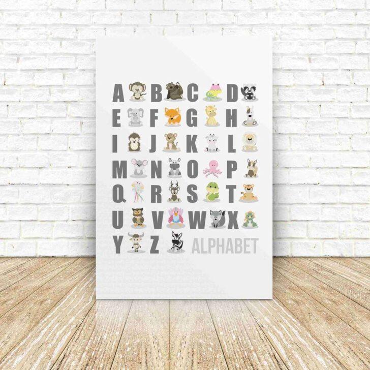 Medium Size of Abc Dreamchen Poster Alphabet Wandbild Tiere Wandbilder Schlafzimmer Regal Kinderzimmer Weiß Regale Wohnzimmer Sofa Kinderzimmer Wandbild Kinderzimmer