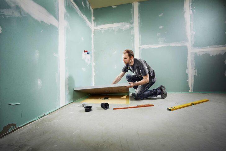 Medium Size of Ebenerdige Dusche Bodengleiche Einbauen Hornbach Wand 80x80 Thermostat Bidet Duschen Fliesen Badewanne Mit Tür Und Bodengleich Glaswand Mischbatterie Dusche Ebenerdige Dusche