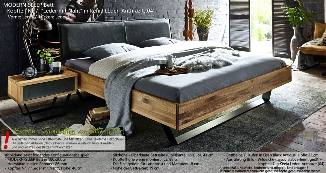 Large Size of Modernes Massivholzbett Modern Sleep Mit Kopfteil Aus Kenia Leder Bambus Bett Sitzbank Rustikales Hülsta Boxspring Stauraum 200x200 Ruf Betten Schlicht Steens Wohnzimmer Bett Modern